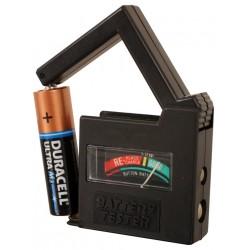 בודק סוללות ביתי מ-1.5V עד 9V+כפתור